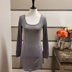 E by Eloise Lace Panel Thermal Top Sz S